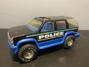 """Vintage 1996 Nylint Metro Police Tahoe Chevrolet Pressed Steel 11"""" Car Rough"""