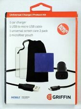 Universal Micro USB Charger ,Screen Protector and Microfiber KIT by GRIFFIN