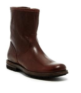 Frye Men's Phillip Lug Inside Zip boots 87816 Dark Brown, NIB, various sizes