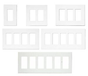 DECORA GFI PLUG SWITCH WALL SCREWLESS PLASTIC COVER PLATE 1 2 3 4 5 6 GANG WHITE