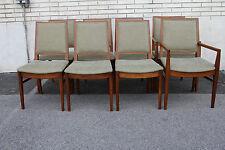Outstanding John Stuart Modern Teek Wood Dining Room Chairs