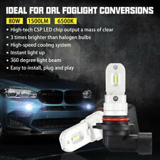 NOVSIGHT 80W 9005 CSP LED Turn Signal Stop Brake DRL Fog Light Bulbs 6500K White