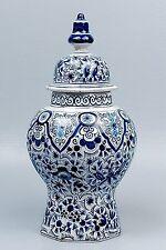 Antique Dutch Delft Lidded Jar - De Porceleyne Clauw - 18th 19th Century - PT