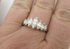Band Ring Size 9.25 Elegant Look 925 Sterling Silver Classic Marquise Cz