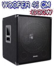 "SUBWOOFER AMPLIFICATO ATTIVO 1000W WOOFER 46 CM (18"") ATTIVO casse dj palco live"