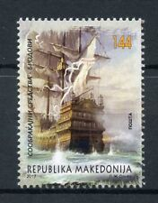 Macedonia 2017 MNH Historical Ship 1v Set Ships Boats Nautical Art Stamps