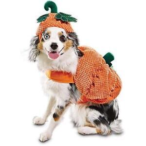 "Bootique Dog Pet Costume Pumpkin Hat XL X-Large New 19-22"" Halloween 2687328"