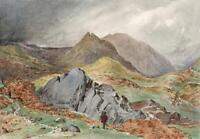 FROM LOUGHRIGG TERRACE TOWARDS GRASMERE LAKE DISTRICT Painting 19TH CENTURY