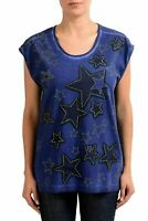 Just Cavalli Purple Embellished Women's Sleeveless Women's T-Shirt US S IT 40