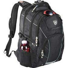 "High Sierra Elite Fly-By TSA 17"" Laptop Computer Poly Canvas Backpack Bag -Black"