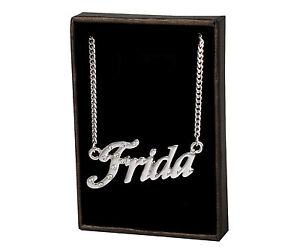 Name Necklace Frida – 18K Gold Plated | Personalised Czech Rhinestones Unique