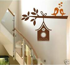 LOVE BIRDS ON A TREE BRANCH wall decal decor birdhouse