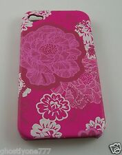 for Iphone 4g i phone case bling Pink hawaiin print flower