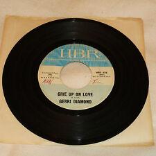 NORTHERN SOUL 45RPM RECORD -JERRI DIAMOND - HBR 458