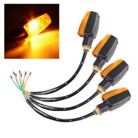 4Pcs Universal Motorcycle Turn Signal Indicator Light Amber Blinker Orange MA865