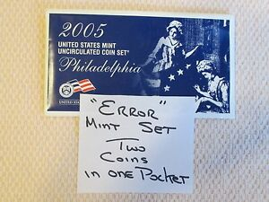 "2005 U.S. MINT PHILADELPHIA MINT SET ""ERROR"". IN OGP. SEALED IN FLAT PACK  (HM)"