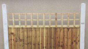 6x1 Heavy Duty Squared Trellis Fence Topper Lattice TREATED Wood RRP £15
