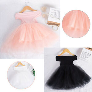 Toddler Kids Girls Ballet Tutu Dress Costume Birthday Wedding Dress Ball Gowns