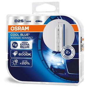 2 x OSRAM D2S Cool Blue Intense Xenarc Light Xenon HID Headlight 6000K