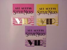 Stevie Nicks backstage passes 3 '89 Tour Authentic squares Vip in Gold letters!