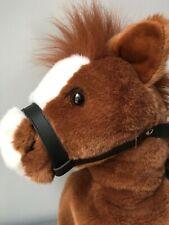 Knee Rider Horse Large Brown Sound Plush Stuffed Animal Toy Danoco Interactive