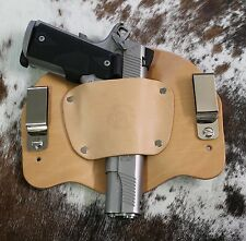 Inside Waistband IWB Leather Holster Hand Made in USA Concealment Holster | Tan