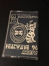 DJ BACKSPIN HEATWAVE 96 1996 Classic 90s Hip Hop NYC Cassette Mixtape Tape