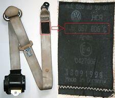 VW Golf Mk4 Seat Belt Beige O/S/R Drivers Side Rear Hatchback 1J6 857 806 C