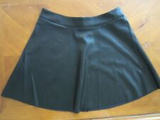 WOMENS H&M DIVIDED BLACK FAUX LEATHER FIT & FLARE SKIRT SIZE 10 US 40 EUR NEW