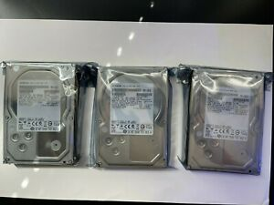 "Lot of 3 2TB  Hitachi Internal 3.5"" Hard Drive HUA723020ALA640 & HUA722020ALA330"