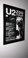 U2 - Zooropa - framed original press release  promo poster