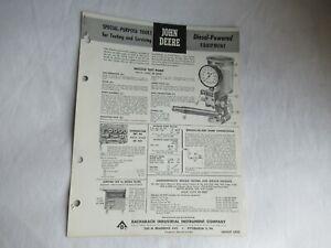 John Deere tractor nozzle pump testing tools spec sheet brochure