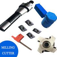 4x APMT1604 Carbide Inserts+ R8 FMB22 Arbor +400R 50MM Face End Mill Cutter Set