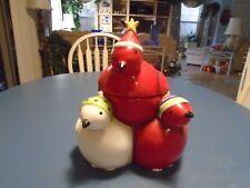 Oneida 3 Birds Christmas Cookie Jar