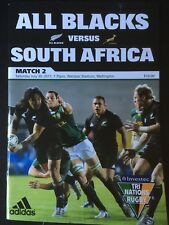3244 New Zealand v SOUTH AFRICA 2011 Rugby Programme 30th July All Blacks 30/07