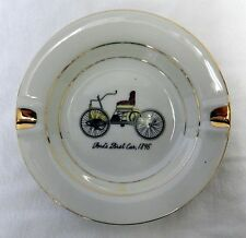 Vintage Advertising Ashtray Collectible Fords First Car 1896 Gold Automobile
