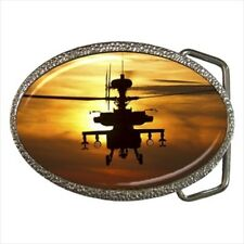 Ah-64D Apache Helicopter Belt Buckle
