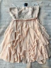 BNWT Forever New Anita Waterfall Dress Peach Blonde Size 16