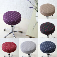 Stretch Round Bar Stool Cover Chair Cushion Sleeve Slipcover 15-16'' 40cm Dia.