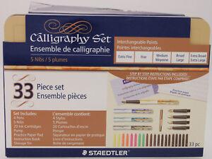 Staedtler Calligraphy 33 Piece Set - 4 Pens - 5 Nibs - 20 Ink Cartridges