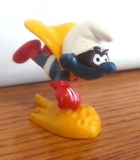 "1980 Smurf Schleich Peyo Superman Comet Flying 2"" x 2 .5""  Hong Kong"