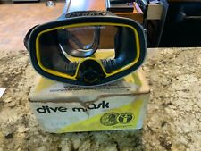 """Vintage Scuba Mask - Us Divers Pacifica -"""" Excellent Condition"""" Fast Shipping"""