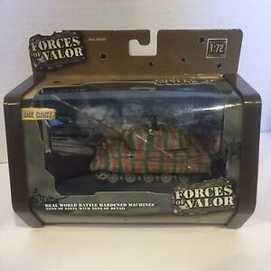 1:72 German KING TIGER TANK - NORMANDY 1944 WWII Forces of Valor , Diecast - Nib