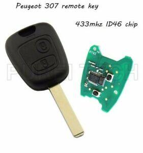 K18C Key Remote Control Peugeot 307 2 Buttons 433MHZ Transponder ID46