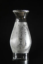 "OIL LAMP CHIMNEY- Trophy etched chimney 2"" Frosted with crimped top"