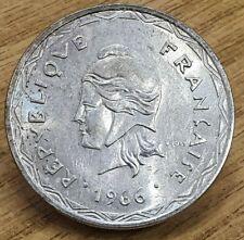 1966 New Hebrides 100 Francs .835 Silver Coin