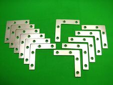 Corner plate flat corner brace fixing L bracket, 76x76mm, pack of 12 zinc plated