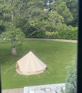 Luxury 4 Season 5m Bell Tent With Built In Stove Outlet