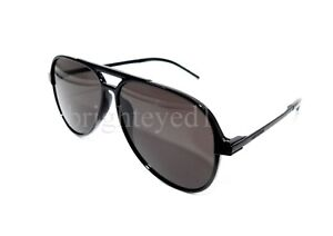 Authentic YVES SAINT LAURENT Black Pilot Sunglasses SL 228-002 *NEW*