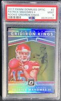 2017 Patrick Mahomes II Donruss Gridiron Kings Optic RC Rookie PSA 9